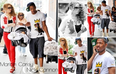 Mariah Carey, Nick Cannon, Moroccan Scott Cannon, Monroe Cannon, Dem Babies - 16 April 2012