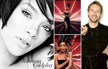 Rihanna, Coldplay, Chris Martin
