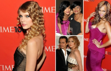 Time magazine's 100 Most Influential People gala in New York, Taylor Swift, Rihanna, Tyra Banks, Jennifer lopez, Marc Anthony