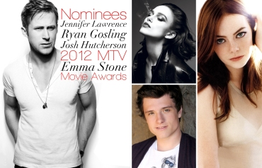 Ryan Gosling, Jennifer Lawrence, Josh Hutcherson, Emma Stone, 2012 MTV Movie Awards Nominees
