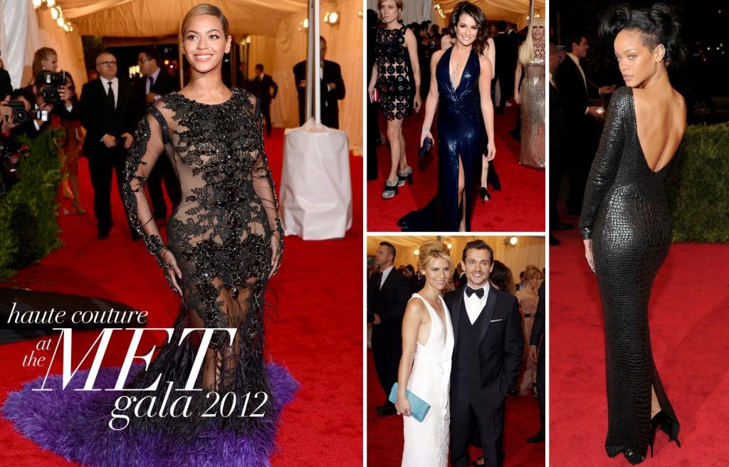 The Met Gala 2012, Beyonce Knowles, Lea Michele, Rihanna, Clare Danes