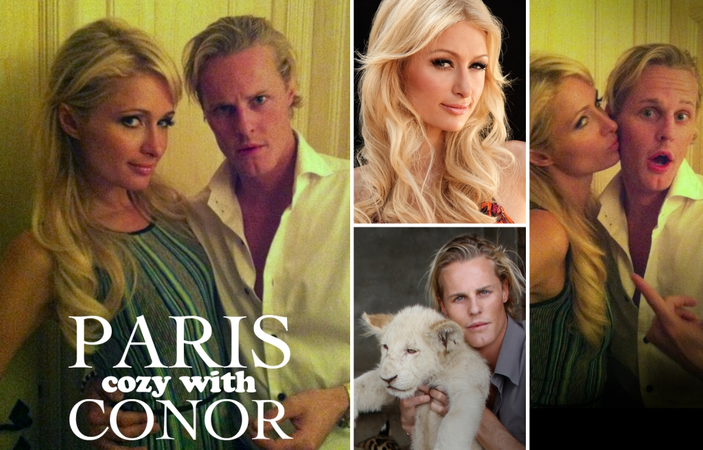 Conor Mccreedy with Paris Hilton