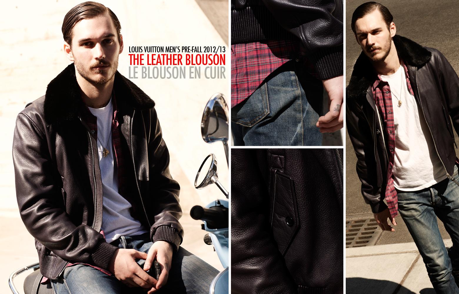39e08435e895 Louis Vuitton Fall 2012 2013 Men s Pre-Collection - The Leather Blouson