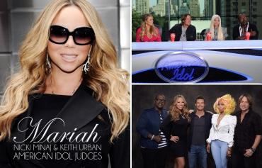 American Idol, Mariah Carey, Nicki Minaj, Keith Urban, Randy Jackson, Ryan Seacrest