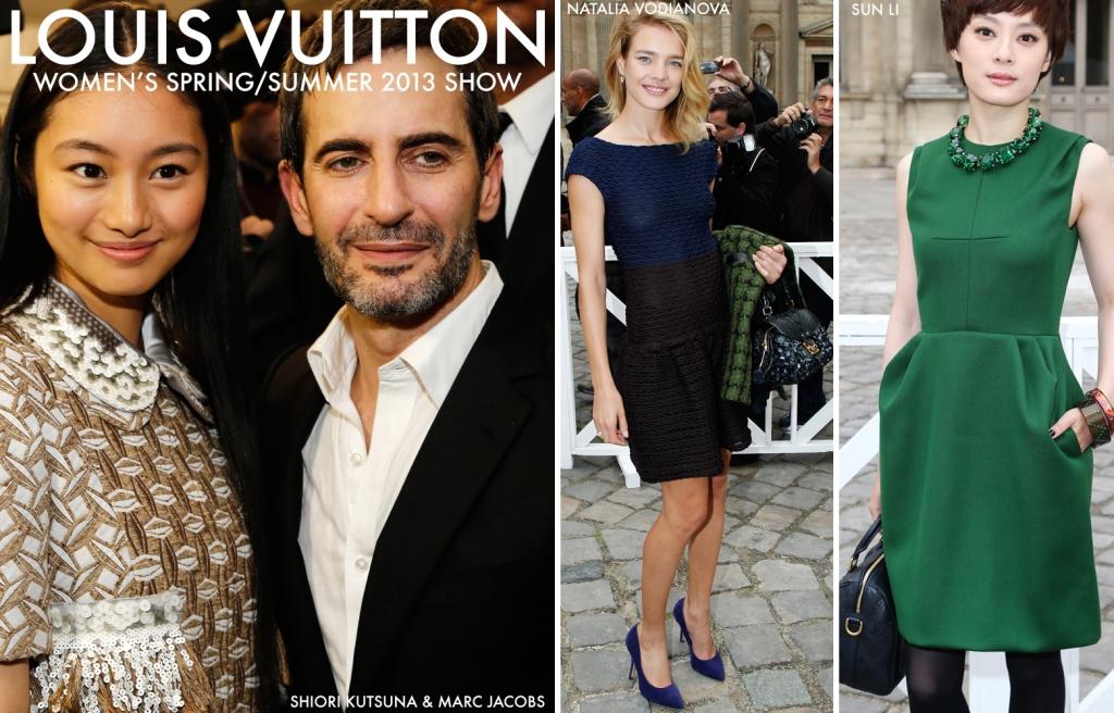 Louis Vuitton Women's Spring Summer 2013 Show, Marc Jacobs, Shiori Kutsuna, Sun Li