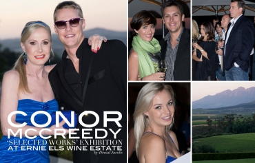 Conor Mccreedy Art Exhibition, Ernie Els Wine Estate, Peta Eggierth-Symes, Jackie Wiese, Jacob Wiese (by Denzil Jacobs)