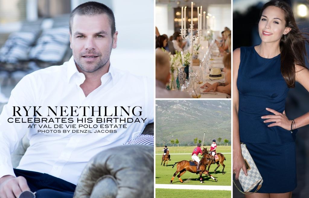 Ryk Neethling Birthday, Tanya Van Graan (by Denzil Jacobs)