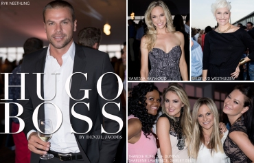 Hugo Boss, Ryk Neethling, Vanessa Haywood, Liezel van der Westhuizen, Thandie Kupe, Sue Duminy, Sharlene Lawrence, Shirley Bell (by Denzil Jacobs)