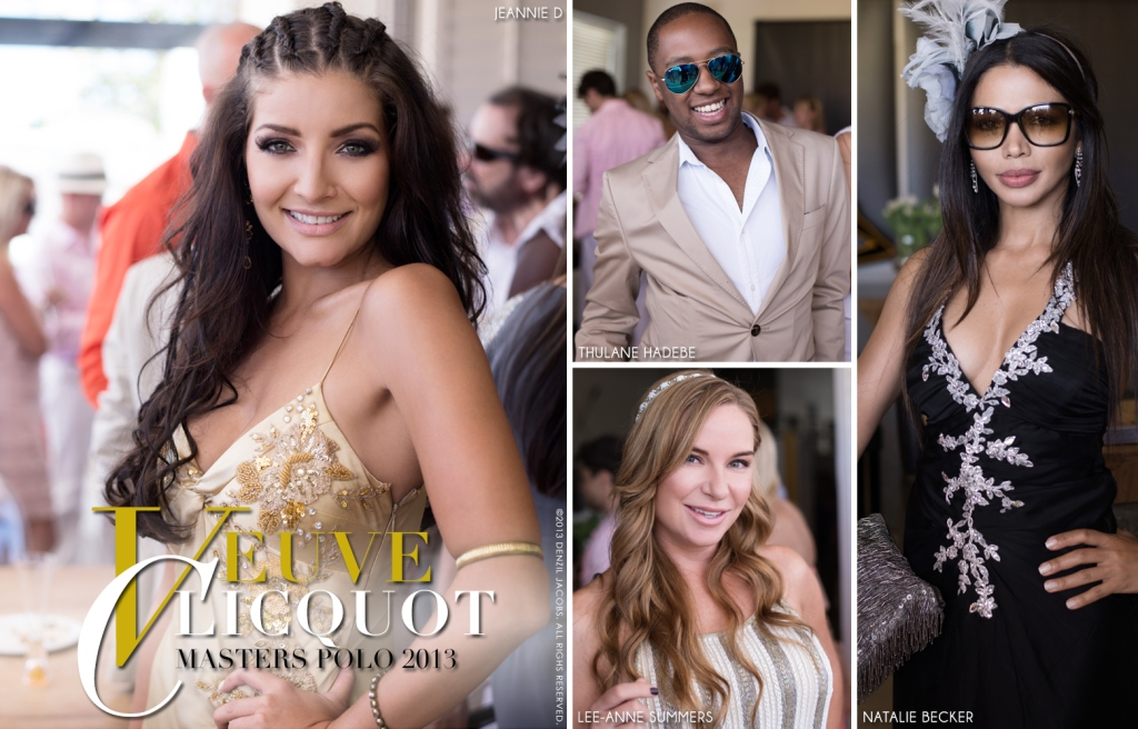 Veuve Clicquot Masters Polo 2013, Jeannie D, Thulane Hadebe, Lee-Anne Summers, Natalie Becker (by Denzil Jacobs)