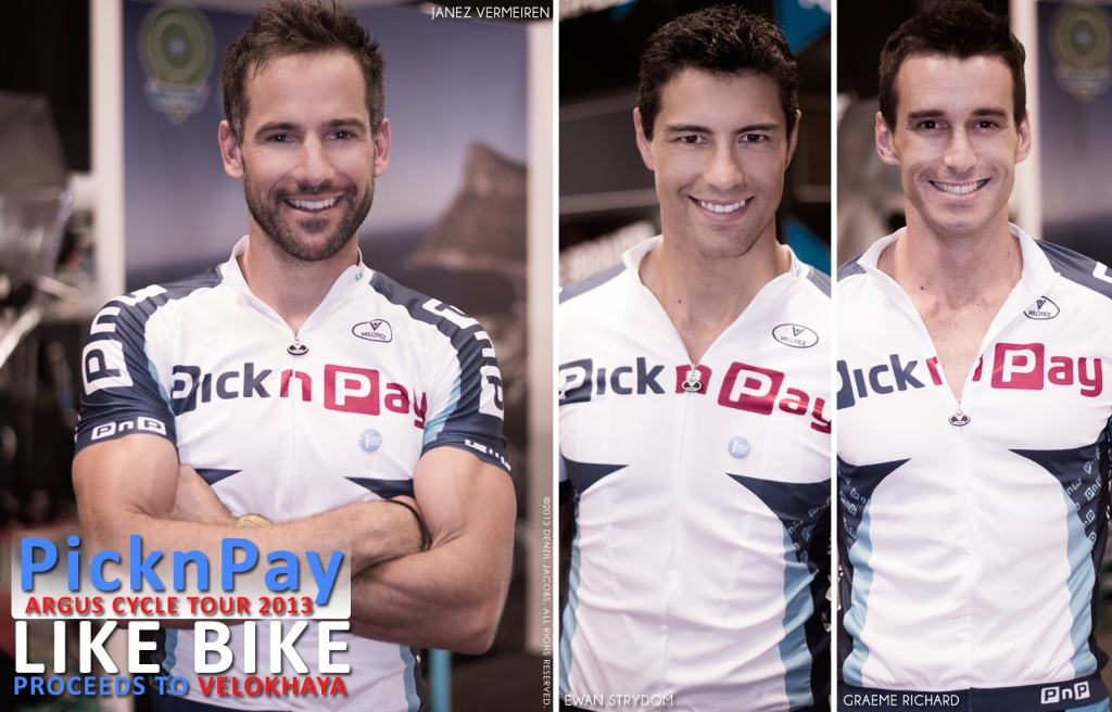 Pick n Pay, Argus, Cycle Tour 2013, Janez Vermeiren, Ewan Strydom, Graeme Richards (by Denzil Jacobs)
