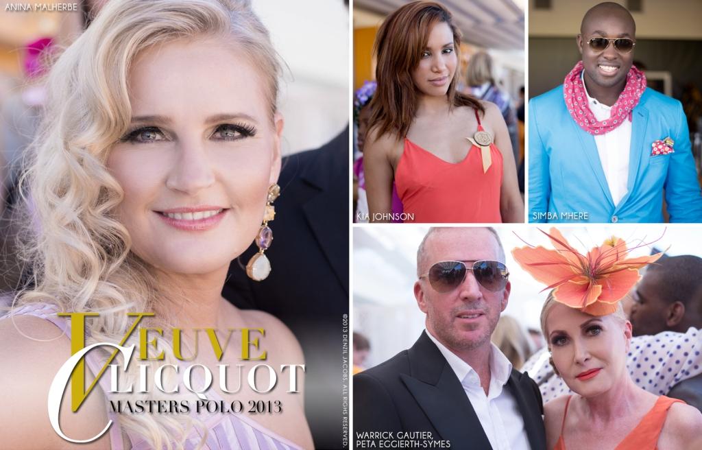 Veuve Clicquot Masters Polo 2013, Anina Malherbe, Simba Mhere, Kia Johnson, Warrick Gautier, Peta Eggierth-Symes (by Denzil Jacobs)