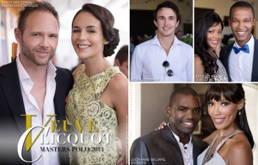 Veuve Clicquot Masters Polo 2013, Tanya Van Graan, Kasper Kristoffersen, Bjorn Steinbach, Leigh-Anne Williams, Siv Ngesi, Katlego Maboe, Lesego Moraladi (by Denzil Jacobs)