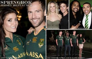 Springbok Rugby Jersey, Jeannie D, Janez Vermeiren, Siv Ngesi, SK Sekoati, Bryan Habana, Jean de Villiers (by Denzil Jacobs)