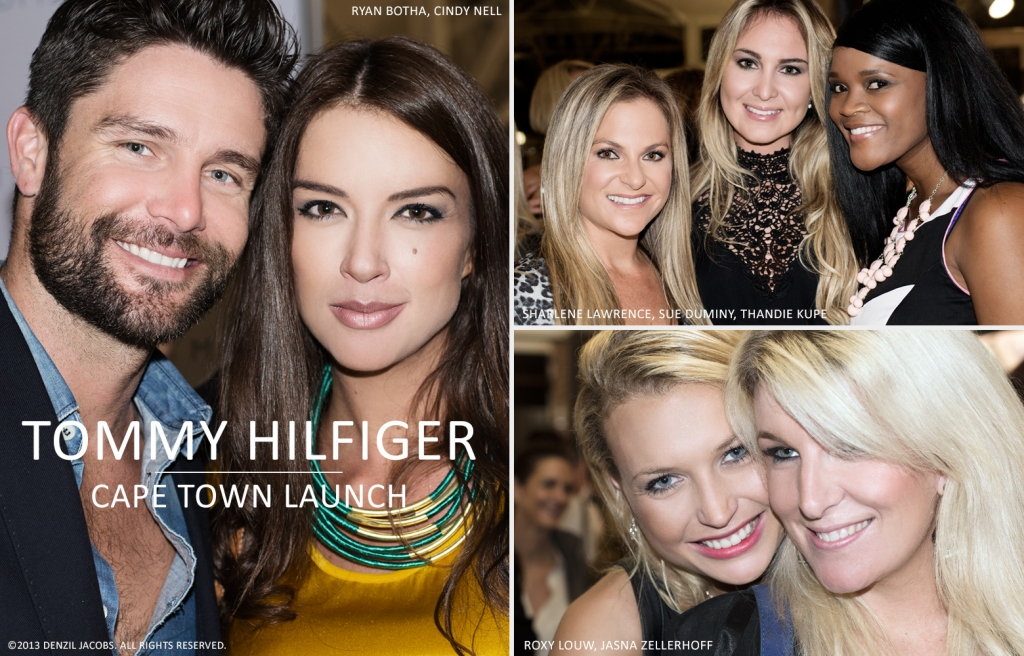 ... Hilfiger Cape Town, Ryan Botha, Cindy Nell, Sharlene Lawrence