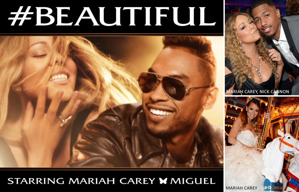 Mariah Carey, Nick Cannon, Miguel (by Denzil Jacobs)