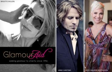 Glamour Aid, Brigitte Willers, Arno Carstens, Liezel van der Westhuizen (by Denzil Jacobs)