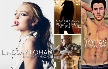 Lindsay Lohan, Mariah Carey, Matt Damon, Elysium, Nick Jonas, Jonas Brothers (by Denzil Jacobs)