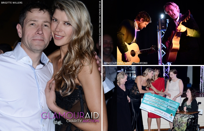 Glamour Aid Charity Event, Brigitte Willers, Arno Carstens, Mike Rutherford (by Denzil Jacobs)