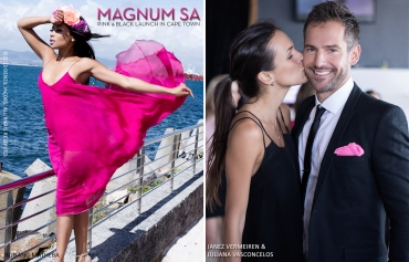 11.06 Bonang Matheba, Janez Vermeiren,  Juliana Vasconcelos, Magnum, Shimmy Beach Club, Magnum SA Launch, Cape Town (by Denzil Jacobs)
