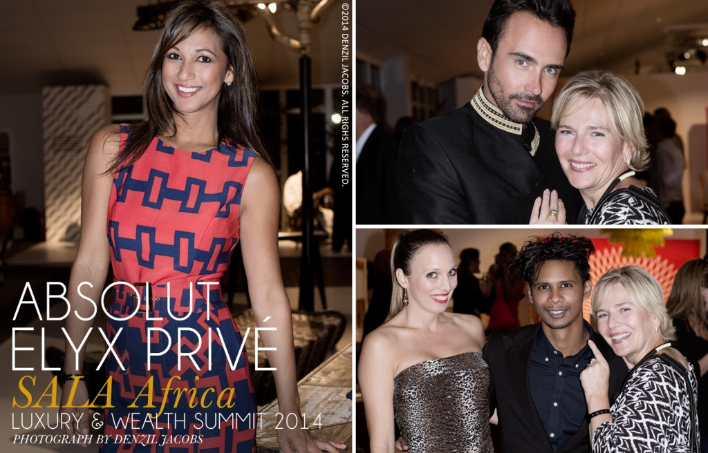 03.05 Absolut Elyx Privé, SALA Africa Luxury & Wealth Summit 2014, Tanya Nefdt, Tammy Cameron, Henri Slier, Barbara Lenhard (by Denzil Jacobs)